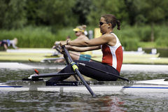 Women's Single Sculls Stock Photos