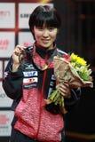 Women`s Singles Awards Hitomi Sato from Japan Royalty Free Stock Photo