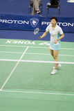 Women's Singles Badminton - Mi Zhou Stock Images