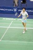 Women's Singles Badminton - Mi Zhou stock images