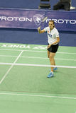 Women's Singles Badminton - Tine Rasmussen. Image of the current (as of January 7, 2009) women's world's No. 2 and European No. 1 player, Tine Rasmussen of Stock Photos