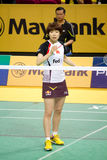 Women's Singles Badminton - Wang Xin Stock Photography