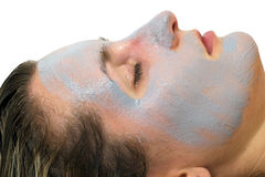 Women's skin with a face mask Stock Image