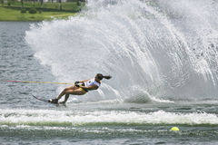 Women's Slalom Action - Anais Amade Royalty Free Stock Images