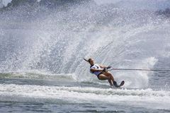 Women's Slalom Action - Clementine Lucine. Image of the 2008 Putrajaya champion, Clementine Lucine of France competing in the Women's Slalom Finals event at the Stock Photo