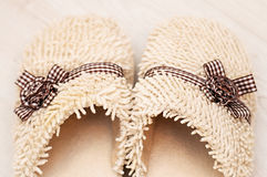 Women's slippers Royalty Free Stock Images