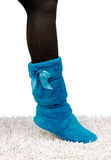 Women's slippers Royalty Free Stock Photography