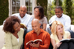 Women`s small group Bible Study. Multicultural small group Royalty Free Stock Photography