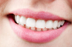 Women's smile. Close up of nice young women's smile Royalty Free Stock Photos