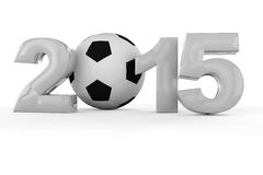 Women's soccer world cup 2015. With soccer ball Stock Image