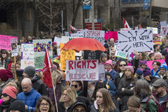 Free Women`s Solidarity March In Toronto, Canada- January 21, 2016 Royalty Free Stock Photo - 84880805