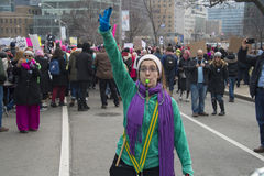 Women`s Solidarity March in Toronto, Canada- January 21, 2016 Royalty Free Stock Photography