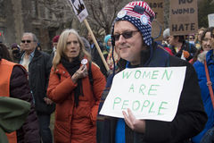 Women`s Solidarity March in Toronto, Canada- January 21, 2016. Toronto,Canada-January 21, 2017: Women`s Solidarity March Royalty Free Stock Images