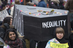 Women`s Solidarity March in Toronto, Canada- January 21, 2016 Stock Image