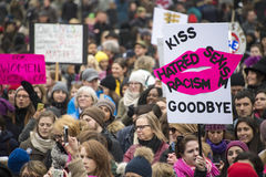 Women`s Solidarity March in Toronto, Canada- January 21, 2016 Stock Photography