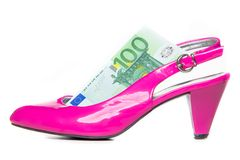 Women's spending on shoes and clothes Stock Photography