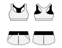 Women's sport underwear. Bra and shorts. Stock Image