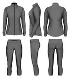 Women`s sport wear for run. Vector illustration Royalty Free Stock Image