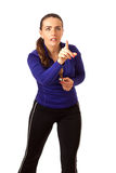 Women's Sports Coach Stock Photography