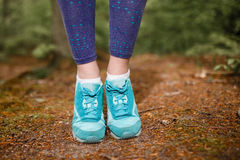 Women's sports sneakers Royalty Free Stock Photo