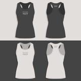 Women`s sports t-shirt design template Royalty Free Stock Photos