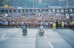 Women's starting line at NY City Marathon Stock Photography