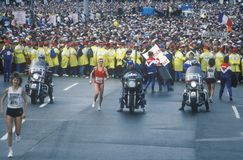 Women's starting line at NY City Marathon Royalty Free Stock Photos