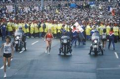 Women's starting line at NY City Marathon Royalty Free Stock Photos
