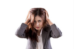 Women`s stress Stock Photography