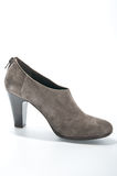 Women's suede ankle boots with high heels. 