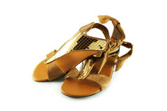 Women's suede sandals Stock Images