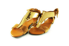 Women's suede sandals Royalty Free Stock Photo