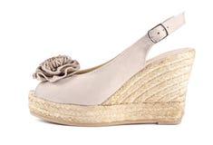 Women's Suede Wedge Sandals #2 Stock Image