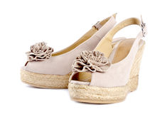 Women's Suede Wedge Sandals #6 Royalty Free Stock Images