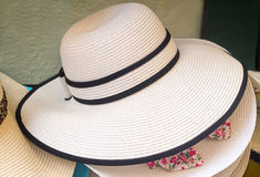 Women's summer hat for sun protection. Stock Photos