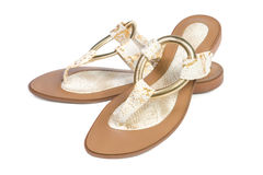 Women's summer sandals. Stock Photos