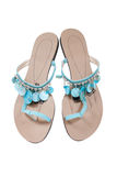 Women's summer sandals. Isolated on white Stock Image