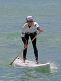 Women's SUP Champion. Event: Duke Kahanamoku Foundation OceanFest 2011, Stand-Up Paddleboard Race Royalty Free Stock Images