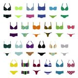 Women`s swimwear set. Set of women`s swimwear -  vector illustration Royalty Free Stock Photos