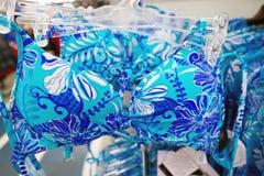 Women's swimwear in shop Stock Images