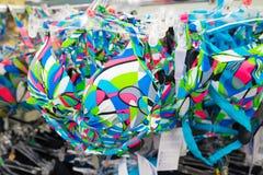 Women's swimwear in shop Stock Photos