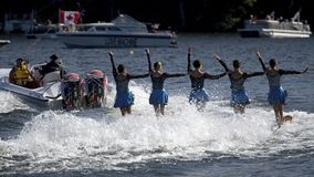 World Water Ski Show Tournament - Huntsville, Ontario, Canada on September 8, 2018 stock images