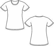 Women's t-shirt illustration Stock Image