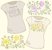 Women's t-shirt illustration. Stock Photography