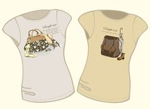 Women's t-shirt illustration. Royalty Free Stock Images