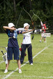 Women's Team Archery Action Stock Images