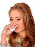 Women's tears. The reasons may be different. Colds Royalty Free Stock Image
