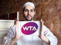 Women`s Tennis Association ,WTA logo. Logo of Women`s Tennis Association ,WTA on samsung tablet holded by arab muslim man. WTA is the principal organizing body Royalty Free Stock Photos