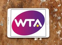 Women`s Tennis Association ,WTA logo. Logo of Women`s Tennis Association ,WTA on samsung tablet on wooden background. WTA is the principal organizing body of Royalty Free Stock Image