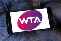 Women`s Tennis Association ,WTA logo. Logo of Women`s Tennis Association ,WTA on samsung mobile. WTA is the principal organizing body of women`s professional Stock Images